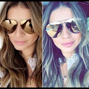 New CELINE gold mirrored lens aviator 41391/s